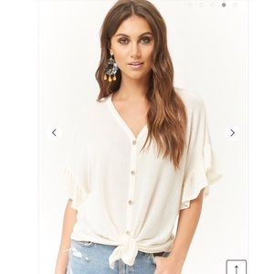 Waffle style front tie top